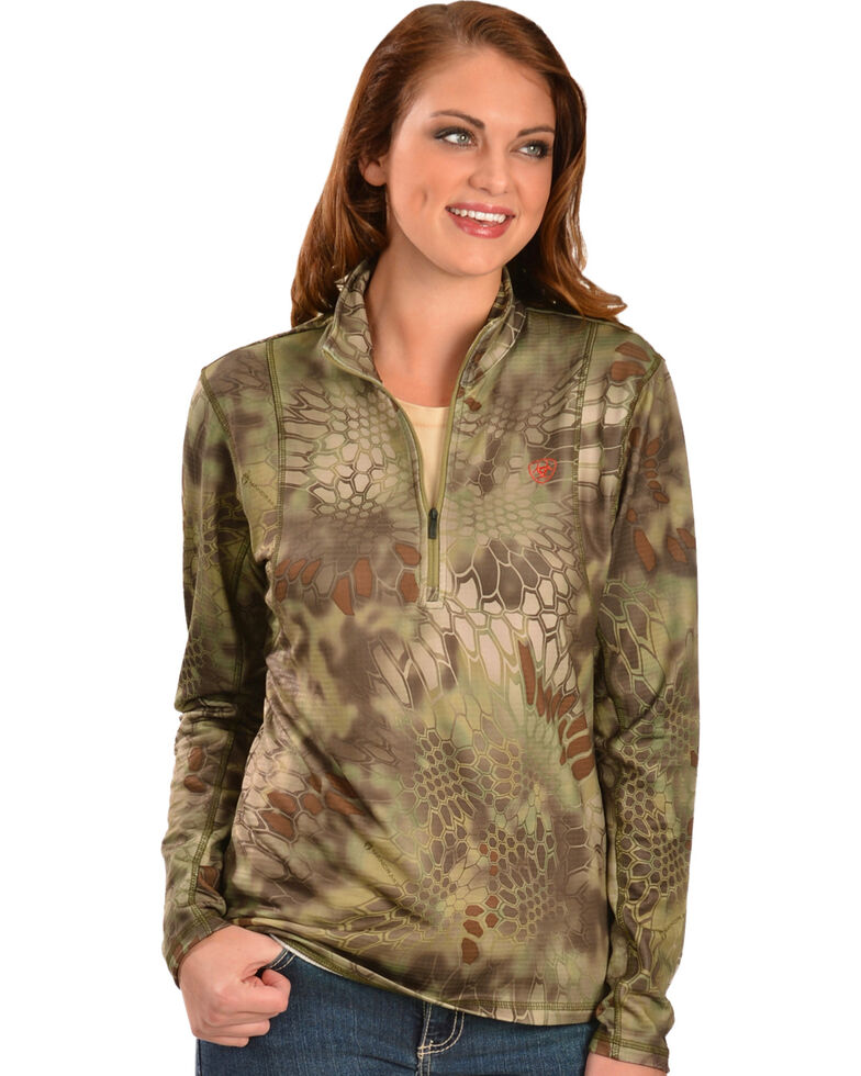 Ariat Women's Kryptek Yeti - Zip Jacket, Olive, hi-res