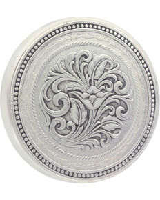 Montana Silversmiths New Traditions Barbed Wire Snuff Lid, Silver, hi-res