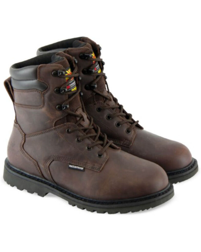 Thorogood Men's V-Series Waterproof Work Boots - Soft Toe, Brown, hi-res
