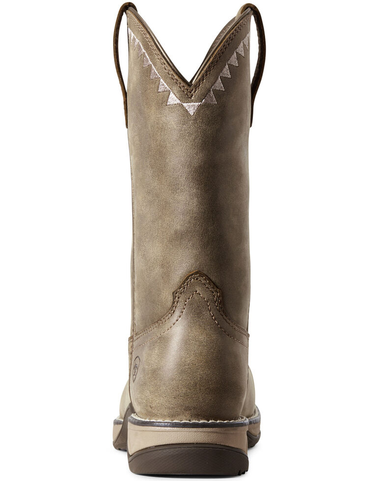 Ariat Women's Anthem Deco Western Work Boots - Composite Toe, Brown, hi-res