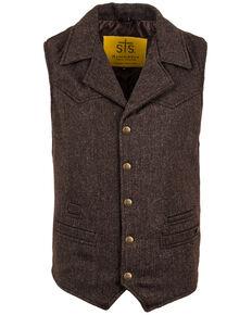 STS Ranchwear Men's Brown Wool Gambler Vest , Brown, hi-res