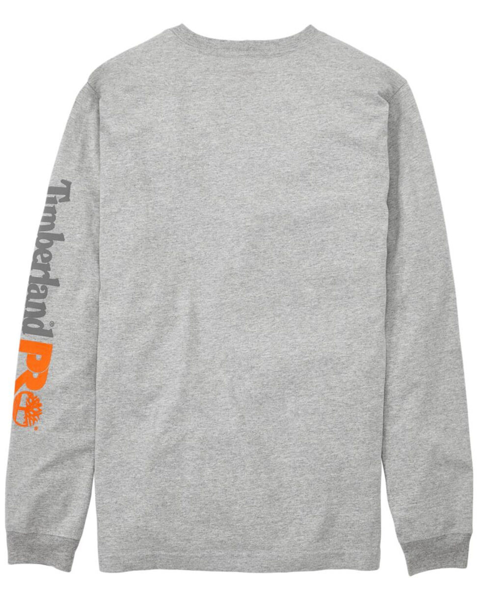 Timberland Pro Men's B&T Base Plate Blended Long Sleeve Work T-Shirt - Big , Heather Grey, hi-res