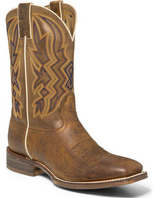 "Nocona Men's 11"" Embroidered Western Boots, Brown, hi-res"
