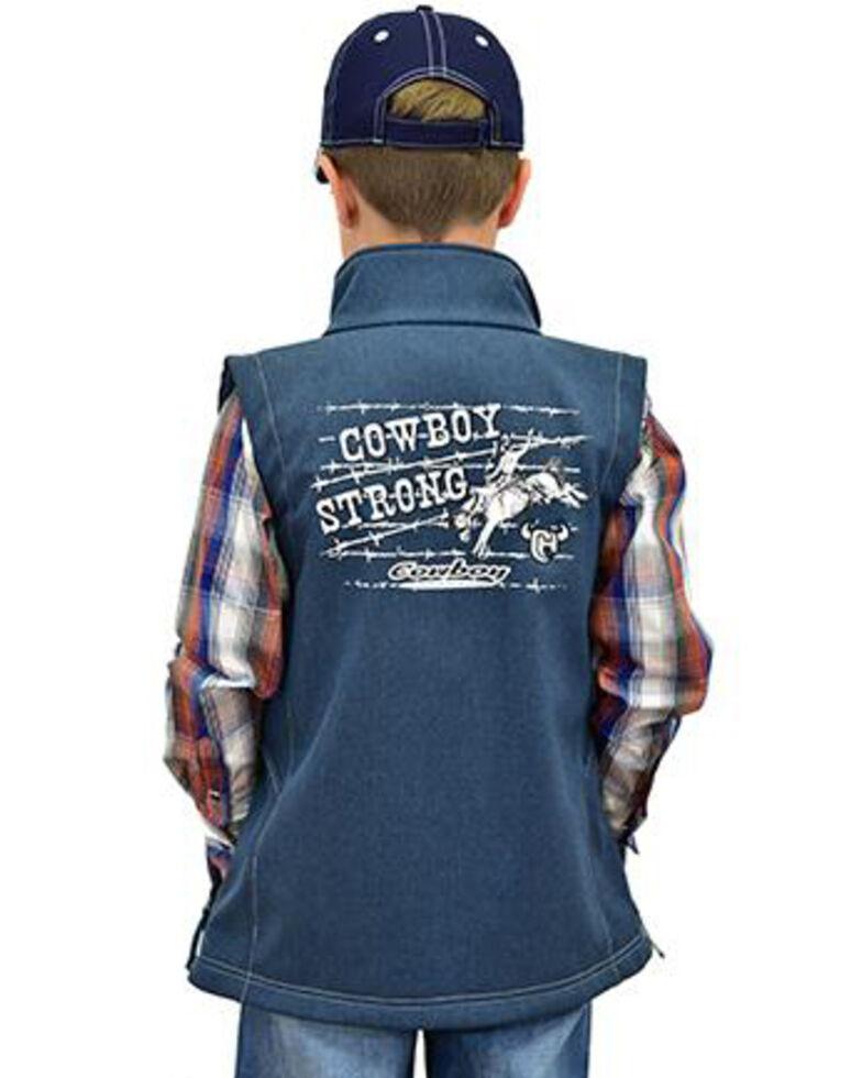 Cowboy Hardware Boys' Cowboy Strong Poly Shell Vest , Navy, hi-res