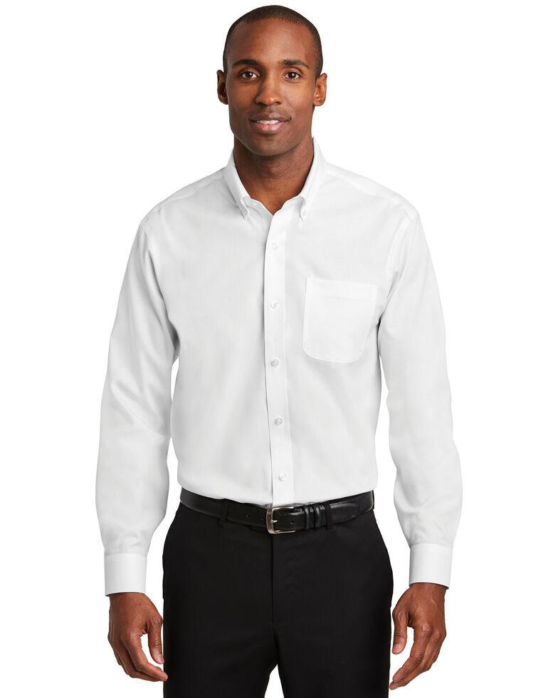 Red House Men's White Pinpoint Oxford Non-Iron Shirt , White, hi-res