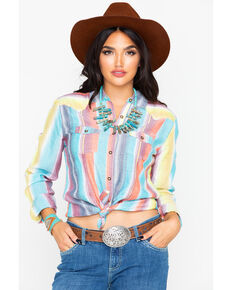0b1e5b39 Panhandle Women's Serape Button Up Long Sleeve Shirt