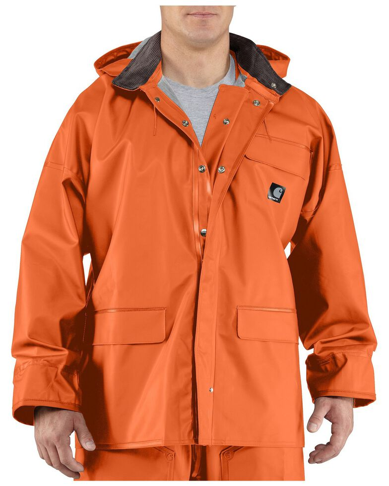 Carhartt Surrey Rain Coat, Orange, hi-res