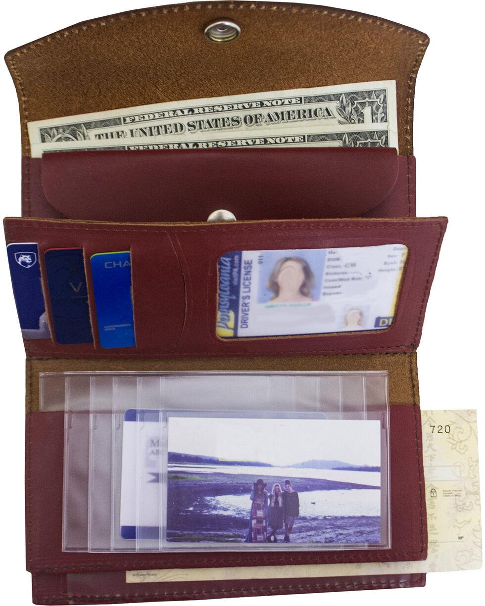 Western Express Women's Leather Organizer Wallet, Brown, hi-res
