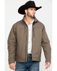 Cinch Men's Concealed Carry Canvas Twill Jacket , Brown, hi-res