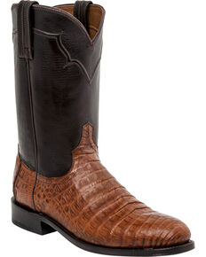 Lucchese Men's Sienna Ultra Caiman Belly Roper Boots, Sienna, hi-res