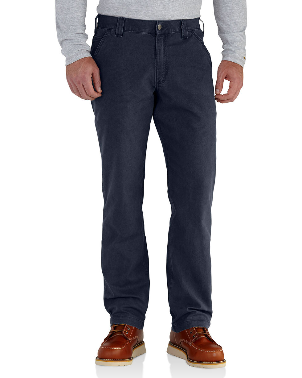 Carhartt Workwear Men's Rugged Flex Rigby Dungaree, Navy, hi-res