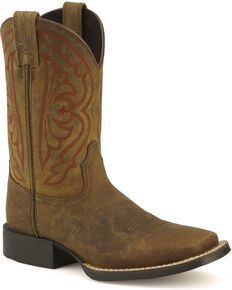 Ariat Kid's Quickdraw Western Boots, Distressed, hi-res