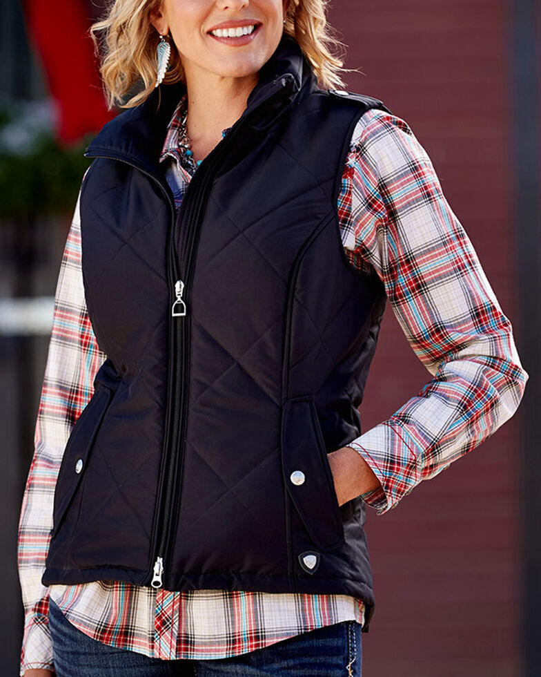 Ariat Women's Terrace Vest, Black, hi-res