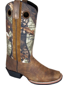 Smoky Mountain Tupelo Camo Cowgirl Boots - Square Toe, Brown, hi-res