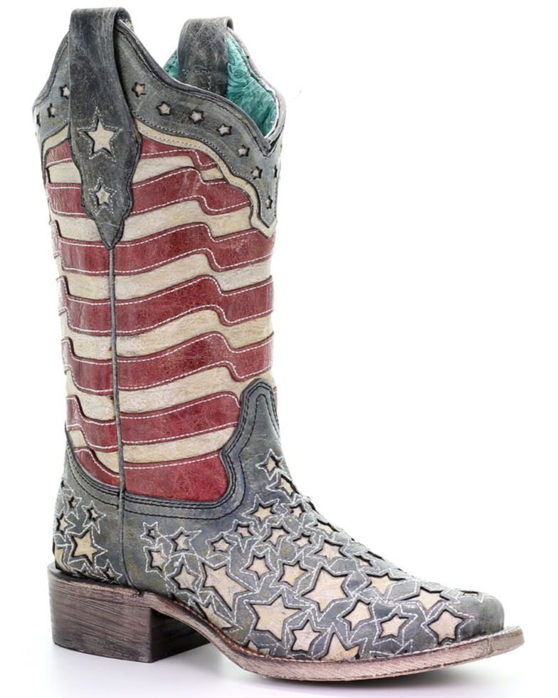 Corral Women's Blue Jeans Stars & Stripes Western Boots ...