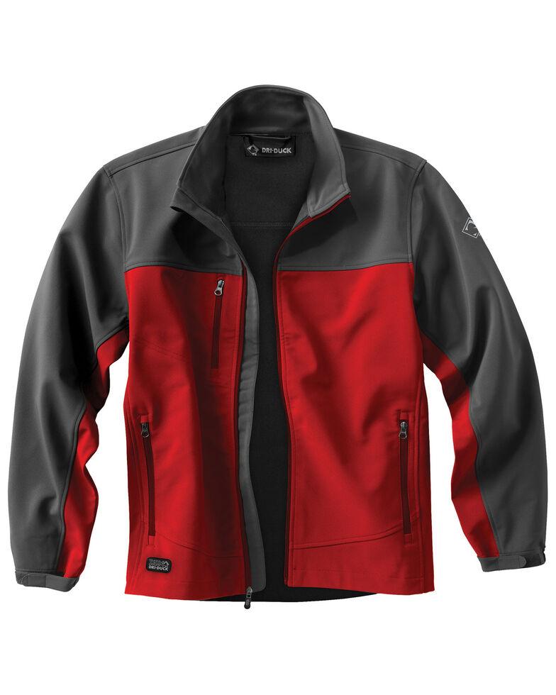 Dri Duck Men's Motion Softshell Work Jacket, Red, hi-res