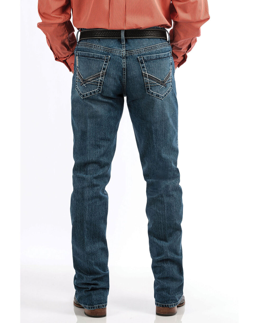 Cinch Men's Ian Medium Stonewash Slim Boot Jeans , Blue, hi-res