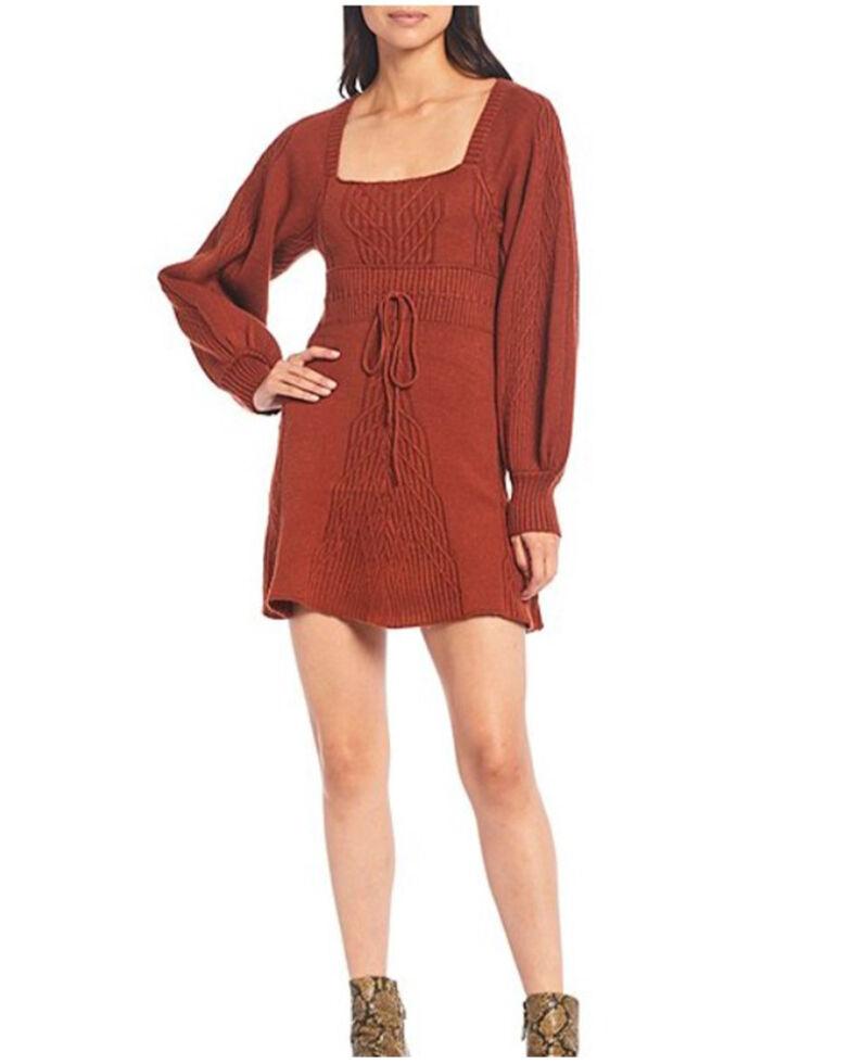 Free People Women's Emmaline Mini Sweater Dress, Brown, hi-res