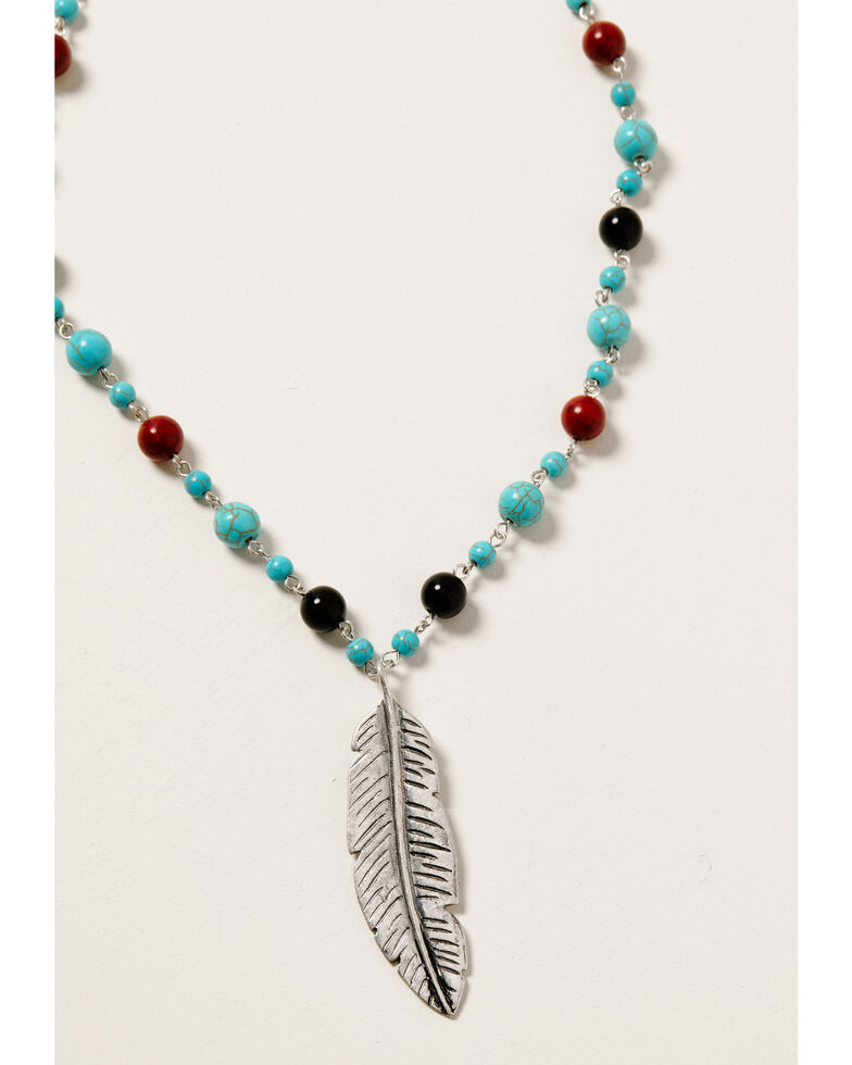 Shyanne Women's Midnight Sky Feather Set, Silver, hi-res