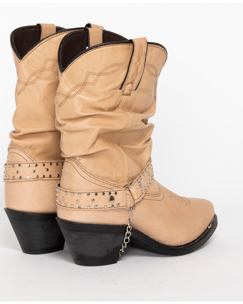 Shyanne® Women's Slouch Harness Fashion Boots, Tan, hi-res