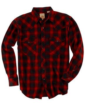 Resistol Men's Navy Plaid Long Sleeve Western Shirt , Multi, hi-res