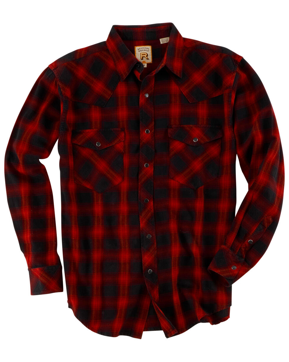 Resistol Men's Navy Plaid Long Sleeve Western Shirt , Multi, hi-res