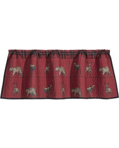 HiEnd Accents Quilted Woodland Plaid Valance, Multi, hi-res