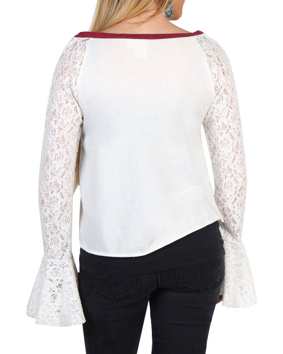 White Crow Women's Lace Long Sleeve Top, , hi-res