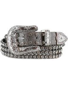 Shyanne® Women's Rhinestone Filigree Belt, Silver, hi-res