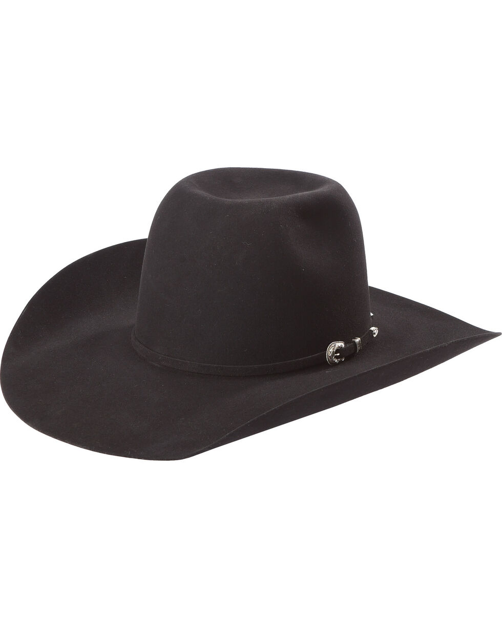 American Hat Co 6X Fur Felt Cowboy Hat, Black, hi-res