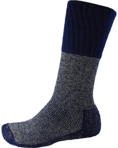 Thorlo Men's Single Pair Western Boot Socks, Blue, hi-res