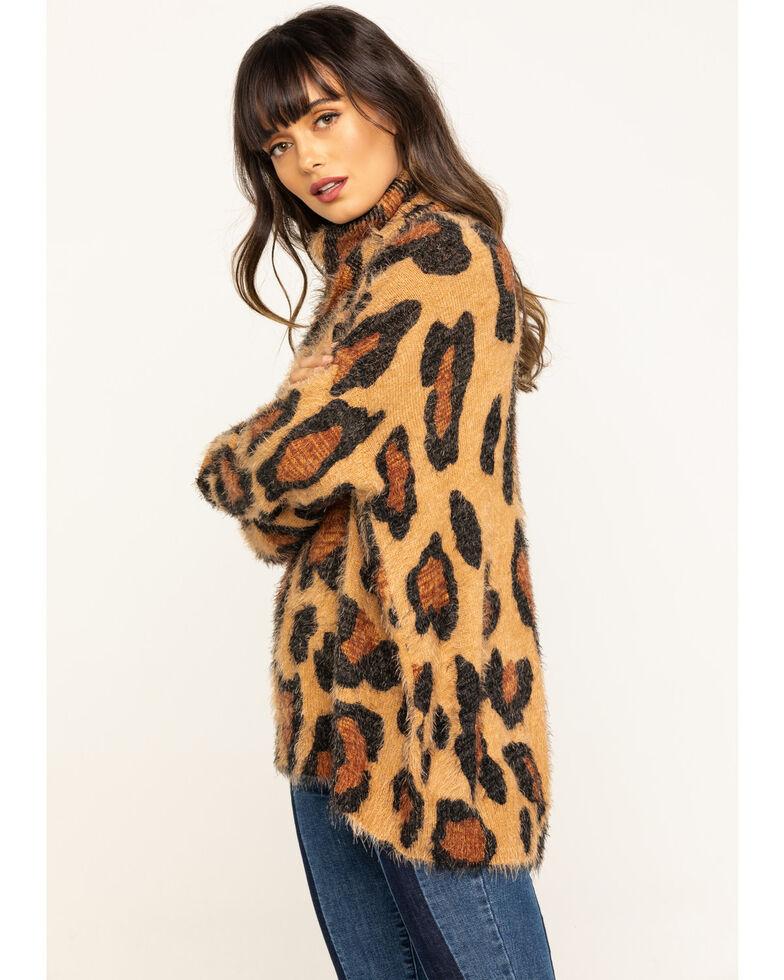 Show Me Your Mumu Women's Cheetah Fever Knit Fatima Turtleneck Sweater, Multi, hi-res