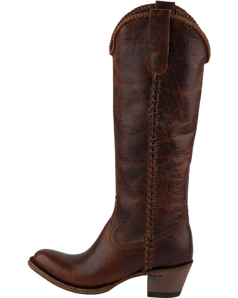 4b123df11f0 Lane Women's Plain Jane Dark Cognac Cowgirl Boots - Round Toe