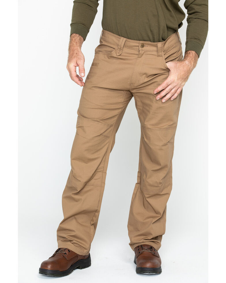 Hawx Men's Brown Stretch Ripstop Utility Work Pants - Big , Brown, hi-res