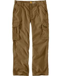 Carhartt Men's Force Tappen Cargo Pants, Brown, hi-res