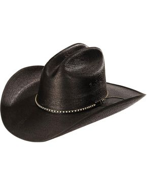 Resistol Men's Jason Aldean Asphalt Cowboy Palm Hat, Black, hi-res