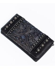 Shyanne Women's Glitter Underlay Wallet, Black, hi-res