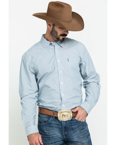 Cinch Men's Modern Fit Blue Striped Long Sleeve Western Shirt , Blue, hi-res