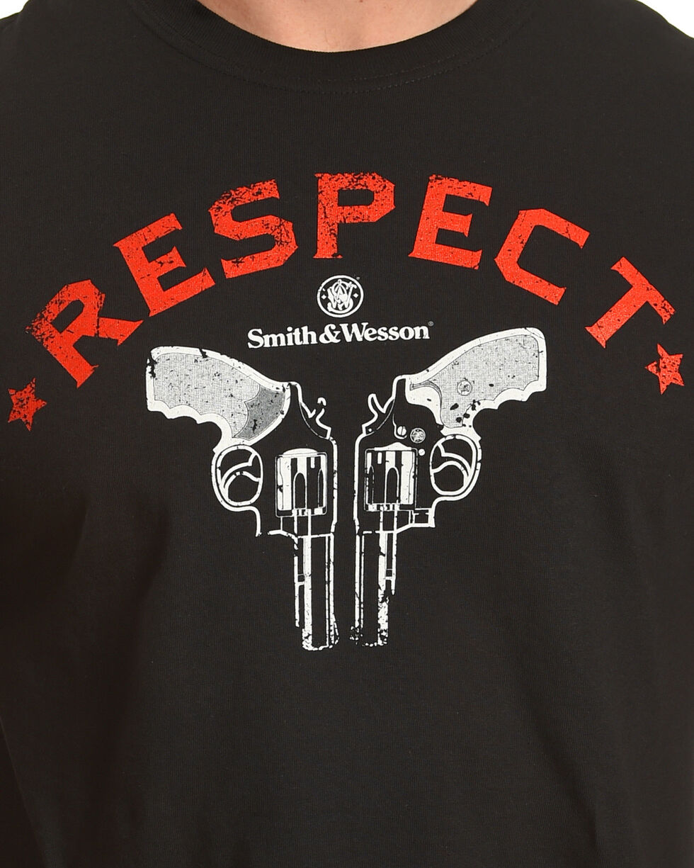 Smith & Wesson Men's Black Old School Respect Tee , Black, hi-res