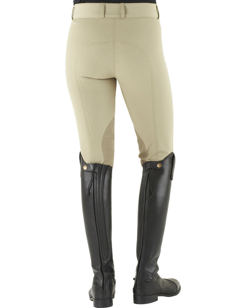 Ovation Celebrity Slimming Knee Patch DX Breeches, Lt Tan, hi-res
