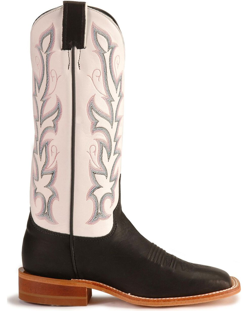 "Justin Women's 13"" Bent Rail Western Boots, Black, hi-res"