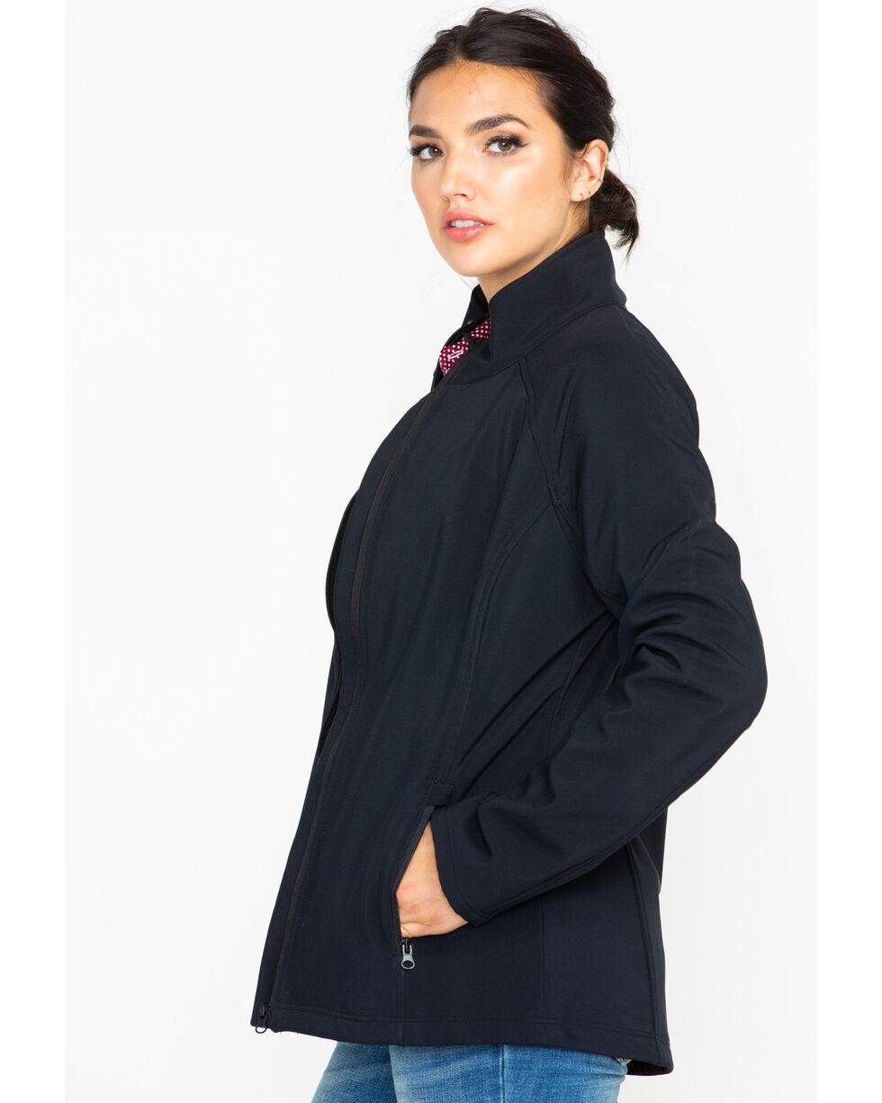 Shyanne Women's Softshell Zip-Up Fleece Jacket , Black, hi-res