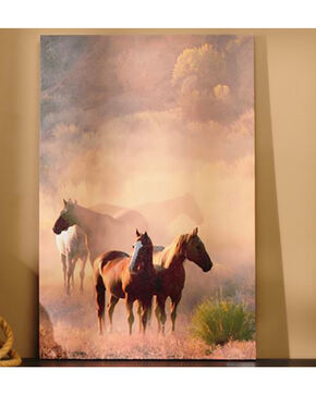 Giftcraft Horses Canvas Print , Multi, hi-res