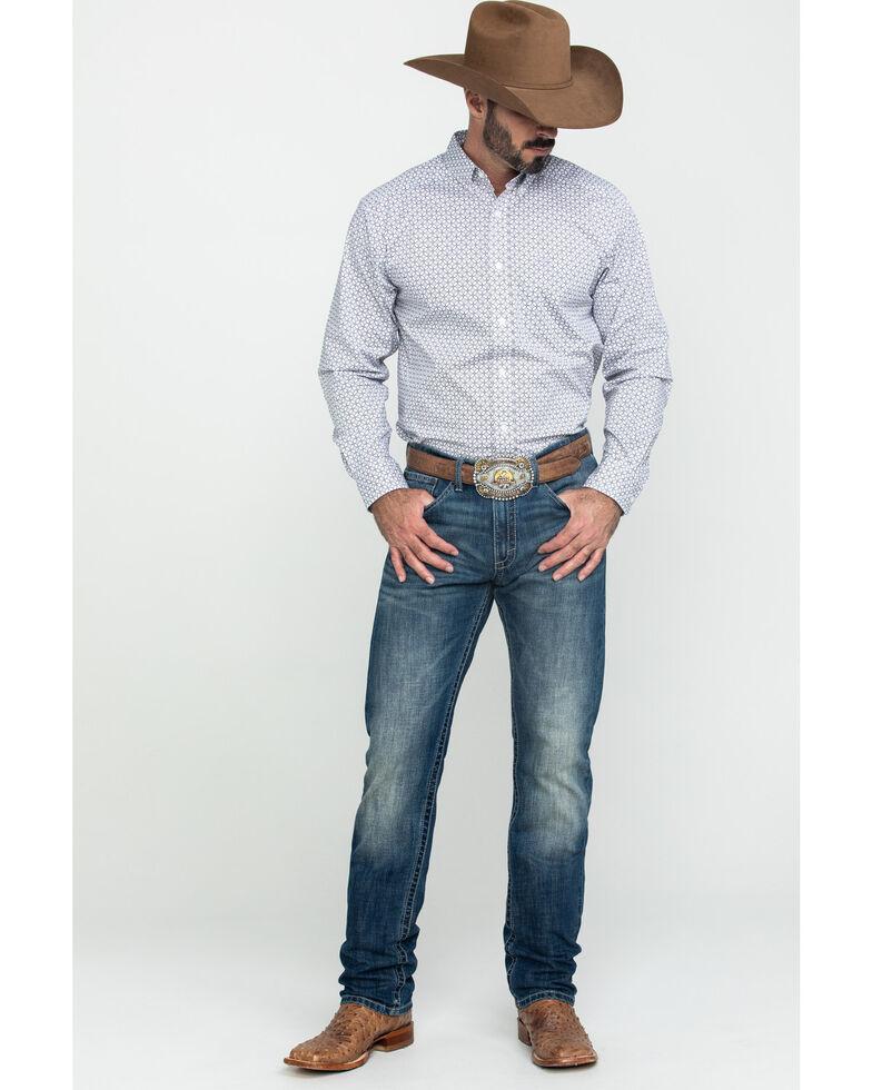Ariat Men's Ferndale Stretch Geo Print Long Sleeve Western Shirt - Tall , Multi, hi-res