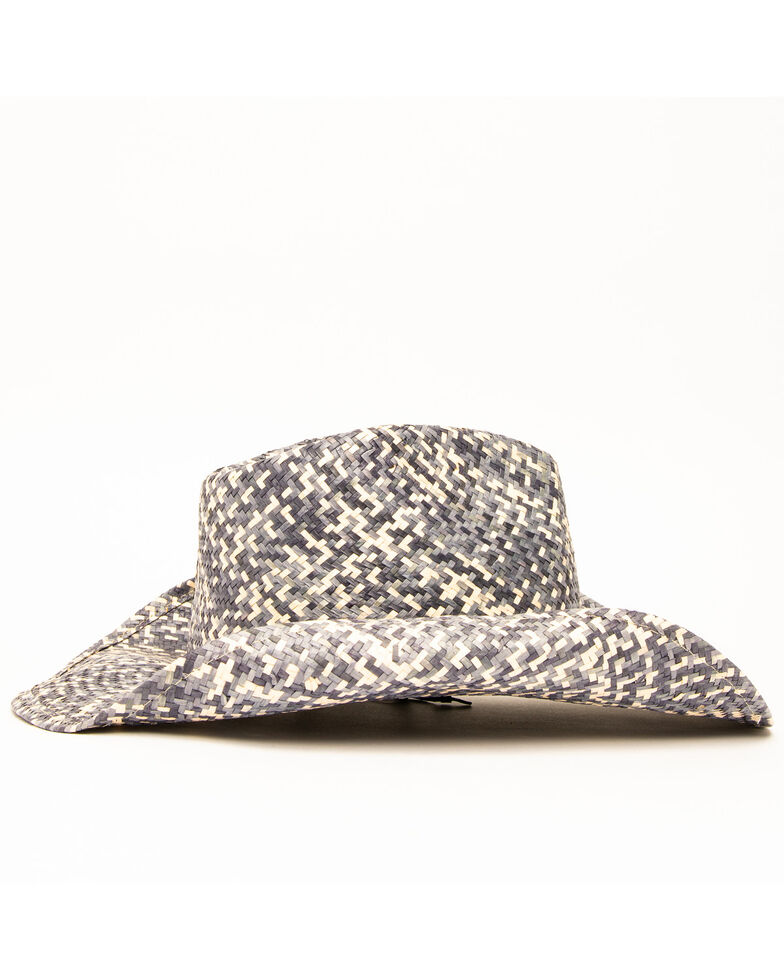 San Diego Hat Co. Women's Woven Studded Straw Hat, Natural, hi-res