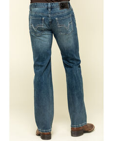 Rock & Roll Cowboy Men's Pistol Med Vintage Med Stretch Straight Jeans , Blue, hi-res