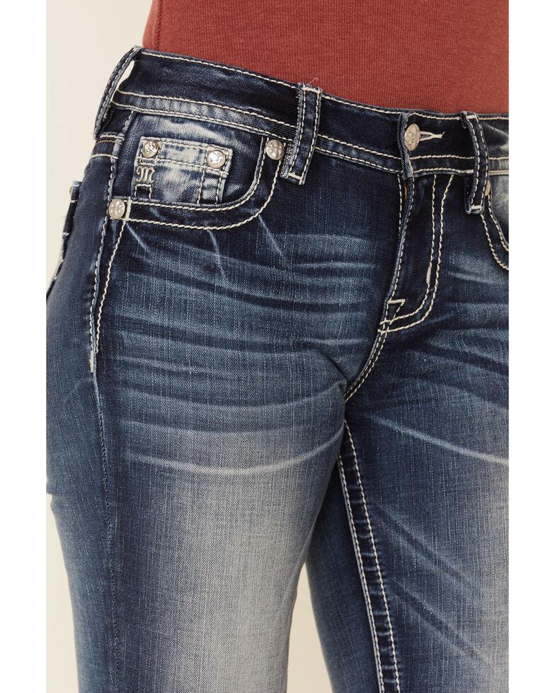 Miss Me Women's Plaid Yoke Chloe Bootcut Jeans , Blue, hi-res