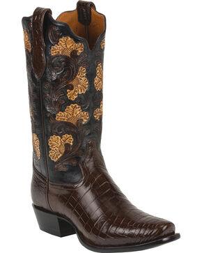 Tony Lama Men's Signature Crocodile Exotic Boots, Kango, hi-res