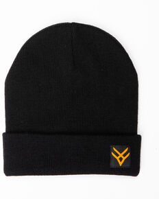 Hawx® Men's Side Logo Beanie, Black, hi-res