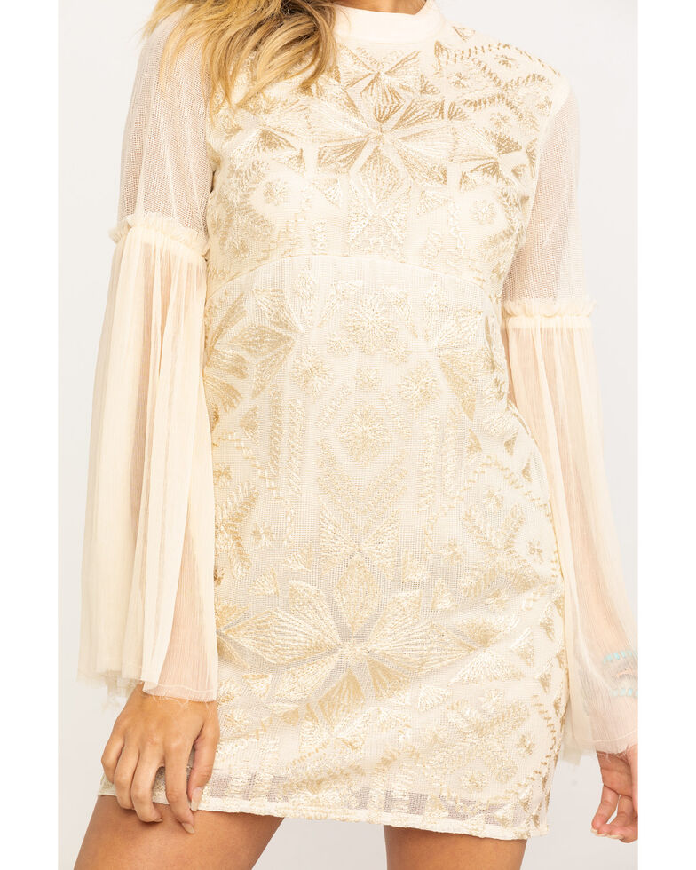 Free People Women's Cleo Mini Dress, Natural, hi-res